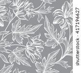 floral seamless pattern  flower ... | Shutterstock .eps vector #417196627