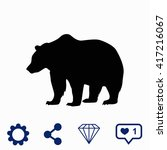 bear icon. | Shutterstock .eps vector #417216067
