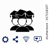 students icon. | Shutterstock .eps vector #417218107