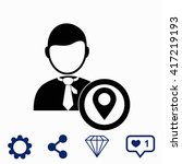 businessman with gps icon.
