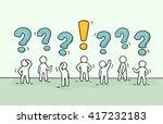 sketch   crowd of working... | Shutterstock .eps vector #417232183