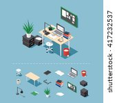 office workplace vector... | Shutterstock .eps vector #417232537