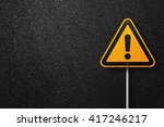 Road Sign Triangular Shape Wit...