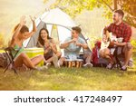 laughing group of young people ... | Shutterstock . vector #417248497