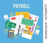 payroll  invoice sheet flat... | Shutterstock .eps vector #417260377