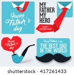 happy father's day collection.... | Shutterstock .eps vector #417261433