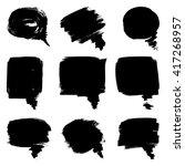 set of ink grunge speech... | Shutterstock .eps vector #417268957