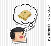 sandwich design. healthy food... | Shutterstock .eps vector #417273787