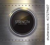 Techno Banner On Steel...