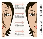 facial plastic surgery concept  ... | Shutterstock .eps vector #417288337