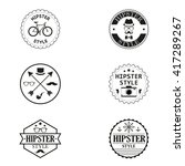 set of labels of the hipster... | Shutterstock .eps vector #417289267
