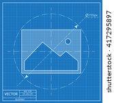 blueprint icon of image photo