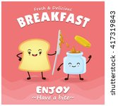 vintage toast poster design... | Shutterstock .eps vector #417319843