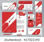 professional universal red... | Shutterstock .eps vector #417321193