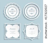 set of vector labels  cutout... | Shutterstock .eps vector #417322027