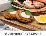 Three Crab Cakes Appetizer Wit...