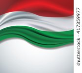 vector hungary flag blowing in... | Shutterstock .eps vector #417359977