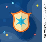 insignia icon  vector flat long ... | Shutterstock .eps vector #417362707