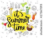it's summertime  surrounded... | Shutterstock .eps vector #417367093