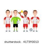 soccer football team player... | Shutterstock .eps vector #417393013