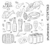 beer hand drawn doodle... | Shutterstock .eps vector #417397063