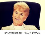 smile elderly business woman... | Shutterstock . vector #417419923