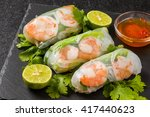 salad spring roll of asian wind ... | Shutterstock . vector #417440623