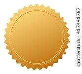 blank agreement gold seal... | Shutterstock .eps vector #417441787