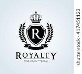 royalty  hotel luxury logo...   Shutterstock .eps vector #417451123