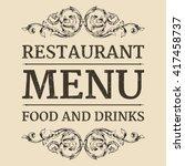 restaurant or cafe menu label... | Shutterstock .eps vector #417458737