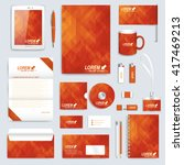 red set layout of vector... | Shutterstock .eps vector #417469213