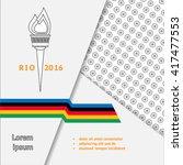brochure design template with... | Shutterstock .eps vector #417477553