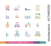 set furniture universal icons... | Shutterstock .eps vector #417490333