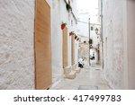alleyway in medieval city of... | Shutterstock . vector #417499783