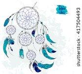 dreamcatcher  set of ornaments  ...   Shutterstock .eps vector #417504493