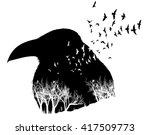 Isolated Raven Illustration...