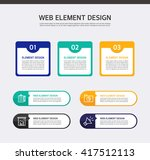 web element design | Shutterstock .eps vector #417512113