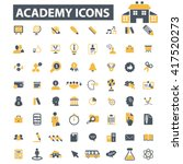 academy icons  | Shutterstock .eps vector #417520273