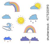 weather vector. a set of...