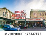 pike place market or public... | Shutterstock . vector #417527587