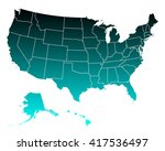 map of usa | Shutterstock .eps vector #417536497