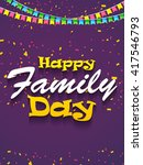 a beautiful card of happy... | Shutterstock .eps vector #417546793