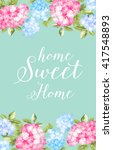 awesome blue vintage label of... | Shutterstock .eps vector #417548893