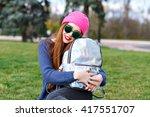 fashion close up portrait of... | Shutterstock . vector #417551707