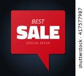 best sale red hamd drawn speech ... | Shutterstock .eps vector #417577987