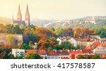 prague sunset landscape from...   Shutterstock . vector #417578587