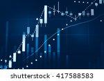 stock market chart. business... | Shutterstock . vector #417588583