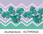 tropical leaves. print with... | Shutterstock .eps vector #417590563