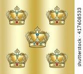 gold luxury pattern. golden... | Shutterstock . vector #417608533