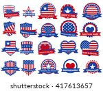 set of various made in the usa... | Shutterstock .eps vector #417613657